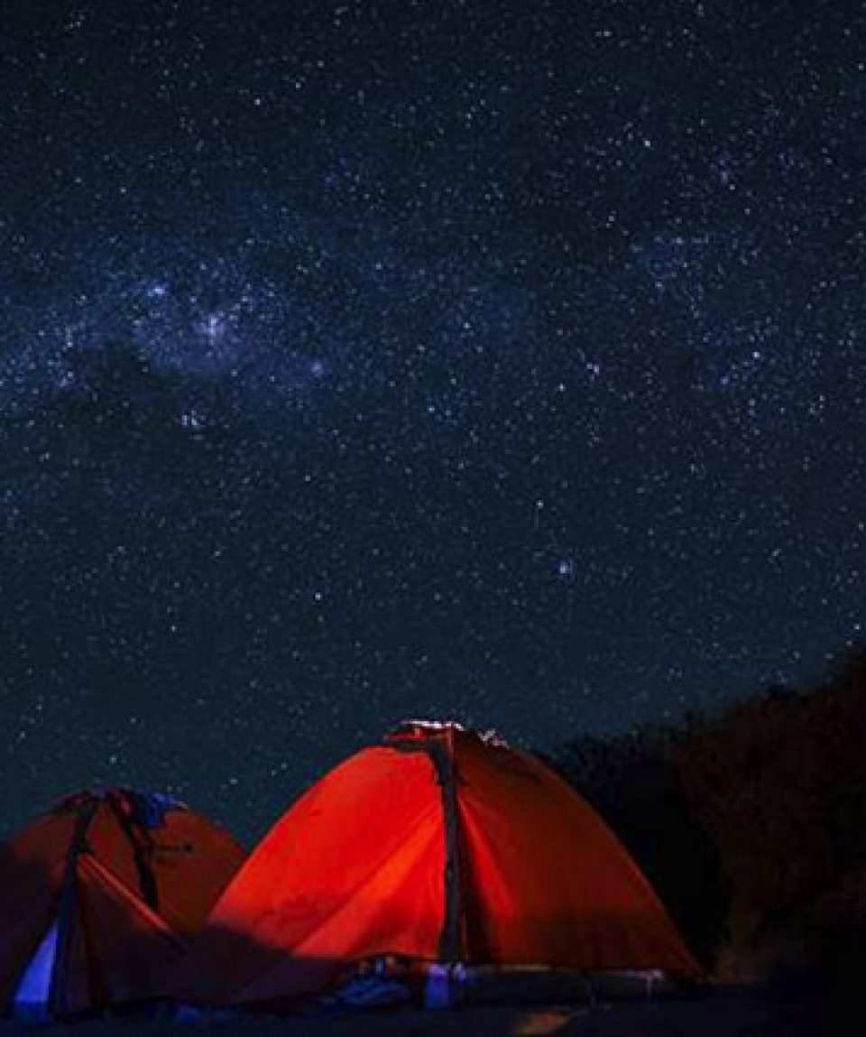 Night in camp, Rinjani treking